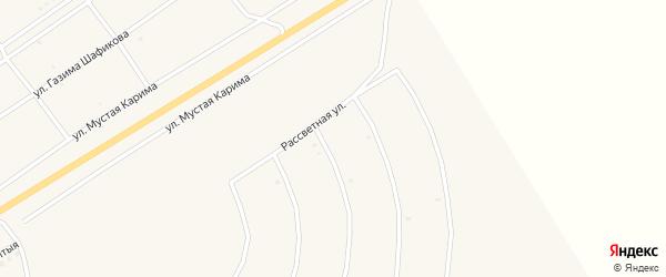 Рассветная улица на карте села Акъяра с номерами домов