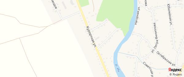 Курортная улица на карте Большеустьикинское села с номерами домов