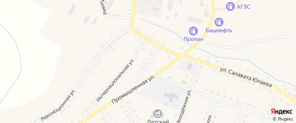 Улица Братьев Жильцовых на карте Большеустьикинское села с номерами домов