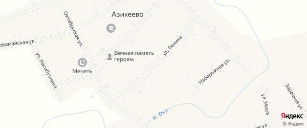 Улица Ленина на карте деревни Азикеево с номерами домов