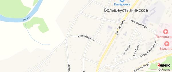 Ключевая улица на карте Большеустьикинское села с номерами домов