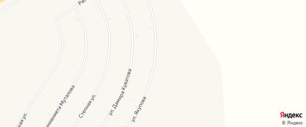 Степная улица на карте села Акъяра с номерами домов