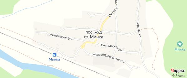 Советская улица на карте села Минки с номерами домов