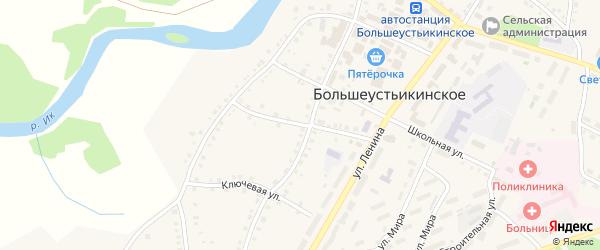 Улица Тихона Онкина на карте Большеустьикинское села с номерами домов