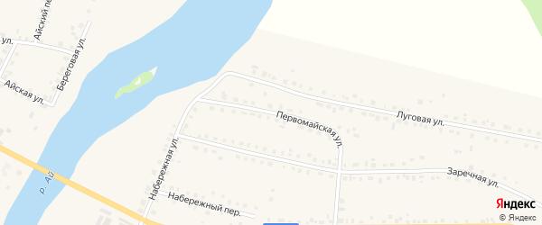 Первомайская улица на карте села Месягутово с номерами домов