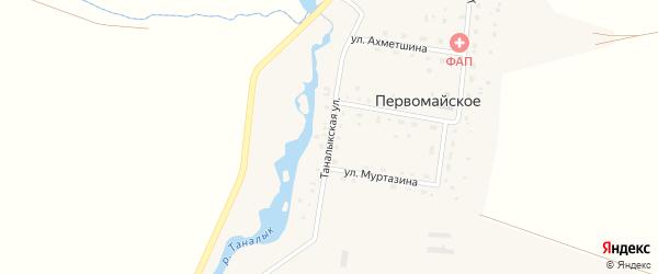 Таналыкская улица на карте Первомайского села с номерами домов