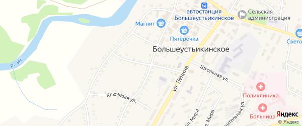 Советская улица на карте Большеустьикинское села с номерами домов