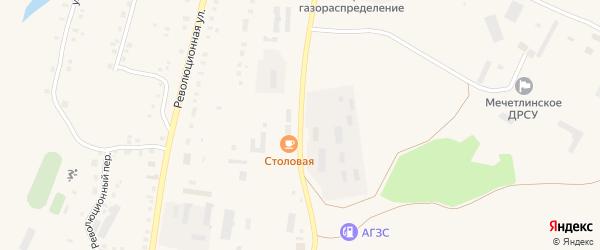 Промышленная улица на карте Большеустьикинское села с номерами домов