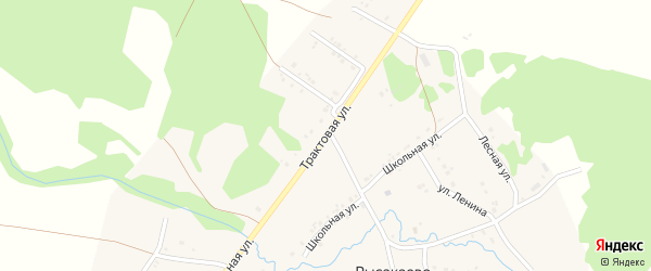 Трактовая улица на карте села Рысакаево с номерами домов