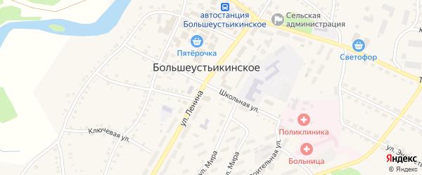 Школьная улица на карте Большеустьикинское села с номерами домов