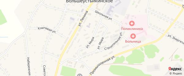 Улица Мира на карте Большеустьикинское села с номерами домов