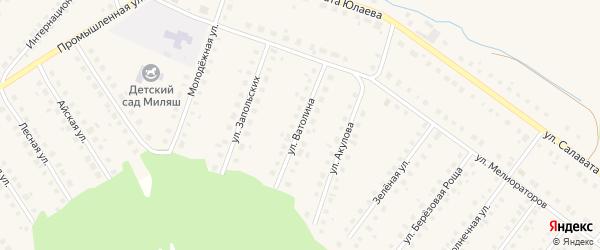 Улица Ватолина на карте Большеустьикинское села с номерами домов