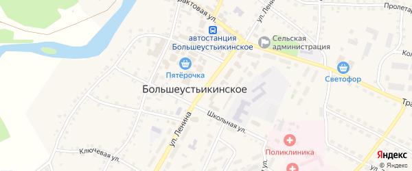 Улица Ленина на карте Большеустьикинское села с номерами домов