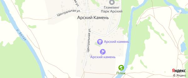 Центральная улица на карте села Арского Камня с номерами домов