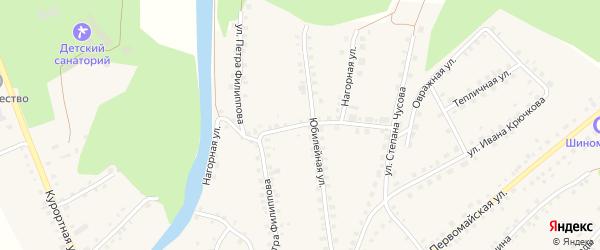 Нагорная улица на карте Большеустьикинское села с номерами домов