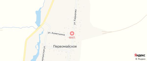 Улица Кадырова на карте Первомайского села с номерами домов