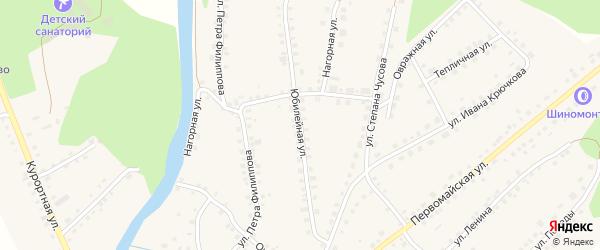 Юбилейная улица на карте Большеустьикинское села с номерами домов