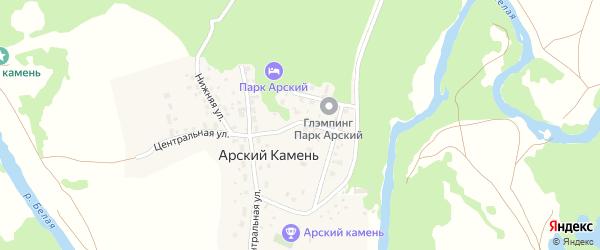 Верхняя улица на карте села Арского Камня с номерами домов