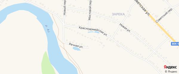 Красноармейская улица на карте села Месягутово с номерами домов