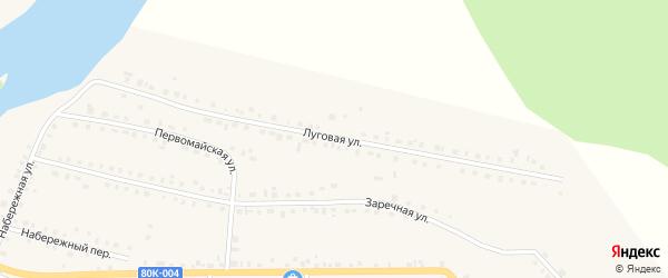 Луговая улица на карте села Месягутово с номерами домов