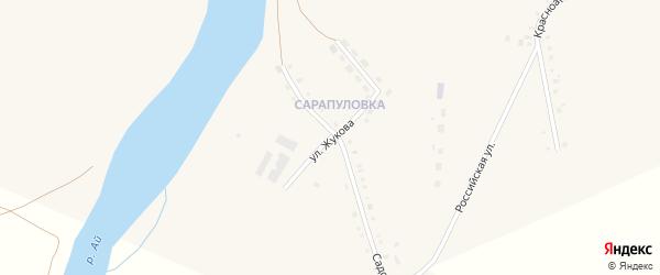 Улица Жукова на карте села Месягутово с номерами домов
