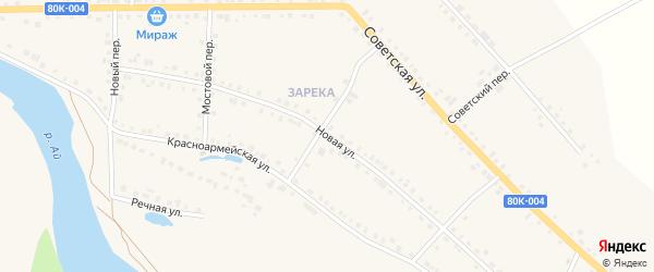 Новая улица на карте села Месягутово с номерами домов