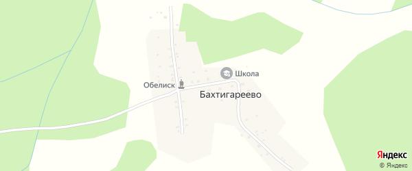 Улица Шаймуратова на карте деревни Бахтигареево с номерами домов