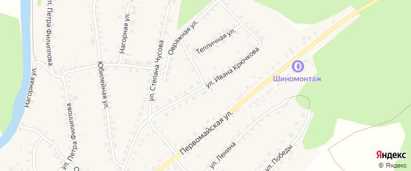 Улица Ивана Крючкова на карте Большеустьикинское села с номерами домов