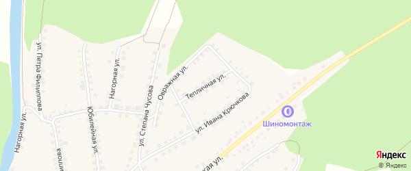 Тепличная улица на карте Большеустьикинское села с номерами домов