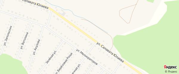 Улица Салавата Юлаева на карте Большеустьикинское села с номерами домов