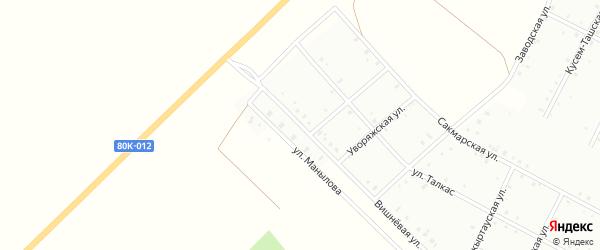 Вишневая улица на карте Баймака с номерами домов