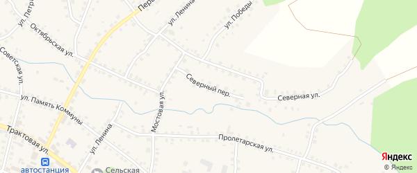 Северный переулок на карте Большеустьикинское села с номерами домов
