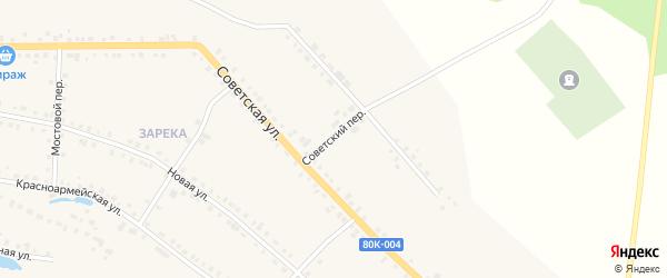 Советский переулок на карте села Месягутово с номерами домов