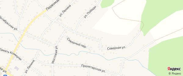 Северная улица на карте Большеустьикинское села с номерами домов