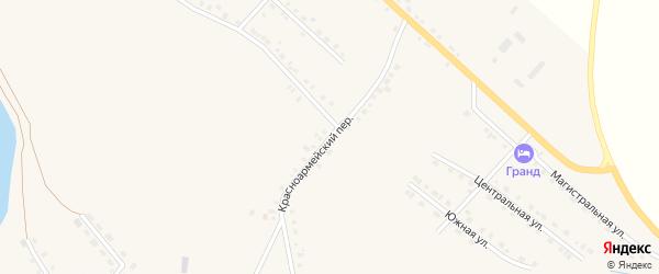 Красноармейский переулок на карте села Месягутово с номерами домов