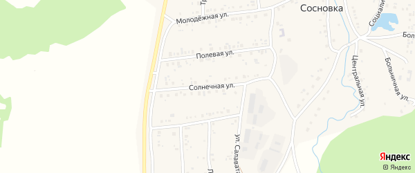 Солнечная улица на карте села Сосновки с номерами домов