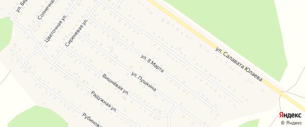 Улица 8 Марта на карте Большеустьикинское села с номерами домов