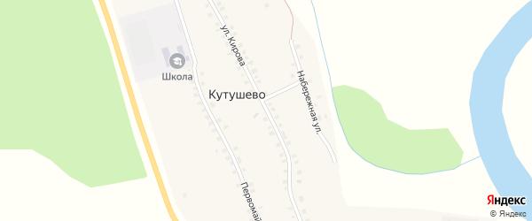 Улица Кирова на карте деревни Кутушево с номерами домов