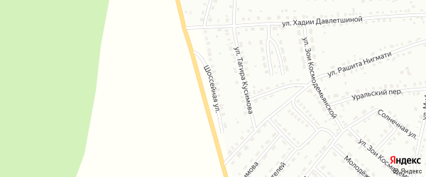 Шоссейная улица на карте Баймака с номерами домов