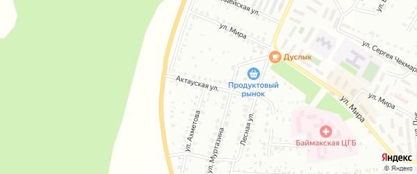 Актауская улица на карте Баймака с номерами домов