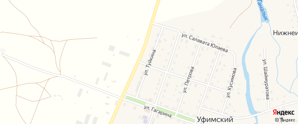 Улица Туйкина на карте села Уфимского с номерами домов