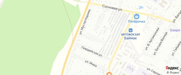 Улица Р.Яхина на карте Баймака с номерами домов