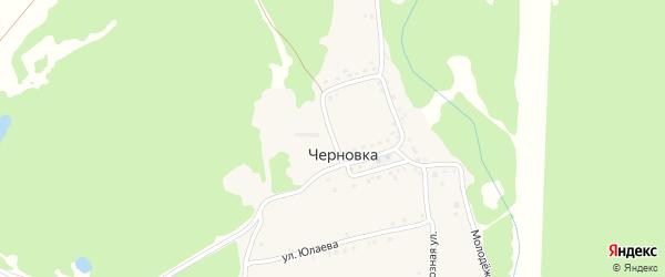 Улица Я.Хамматова на карте деревни Черновки с номерами домов
