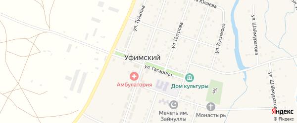Улица Гагарина на карте села Уфимского с номерами домов