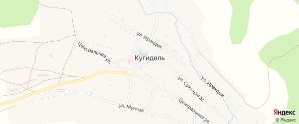 Центральная улица на карте деревни Кугидели с номерами домов