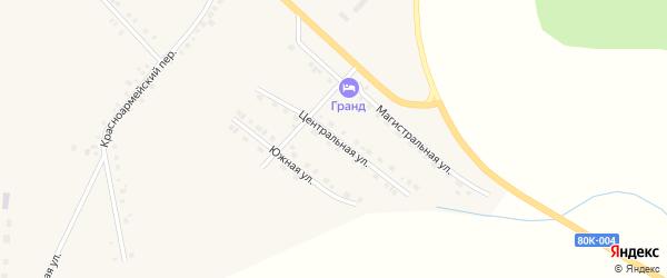 Центральная улица на карте села Месягутово с номерами домов