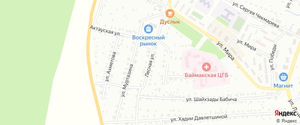 Лесная улица на карте Баймака с номерами домов