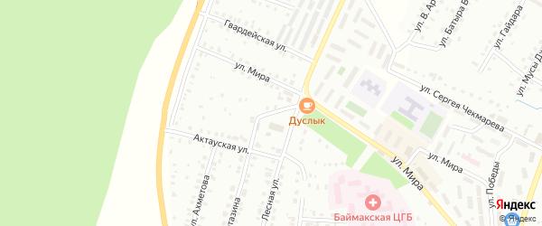 Мирный переулок на карте Баймака с номерами домов