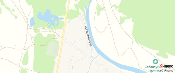 Набережная улица на карте села Сосновки с номерами домов