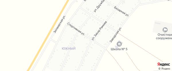 Спортивная улица на карте Баймака с номерами домов